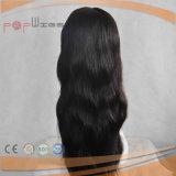 Mode noir perruque de cheveux humains compter de la Dentelle (PPG-L-02424)
