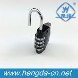 Cadeado de combinação de bagagem de viagem de liga de zinco com várias cores (YH9062)
