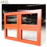 Dernière conception Double vitrage revêtu de bois de la fenêtre à battant en aluminium