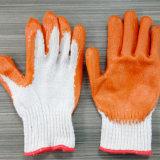 グリップの乳液によって塗られる綿の寒い気候作業手袋