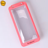 Sinicline Portable de plástico de color rosa claro estuche caja caja de teléfono