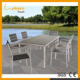 Neuer Entwurfs-Gaststätte-Freizeit-Patio-Rattan-Tisch und Stuhl-im Freiengarten-Möbel