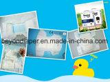 De super Absorberende Luier van de Baby van het Polymeer Beschikbare met Hoogste Kwaliteit in China