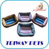 Tecido impresso e Mini-Plush Cão Gato camas (WY1711072)