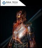 Ventilatore di pubblicità olografico popolare del LED in azione
