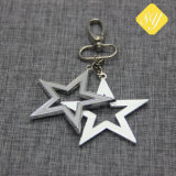 China-Fabrik-kundenspezifische goldene Metallstern-Form-Schlüsselkette