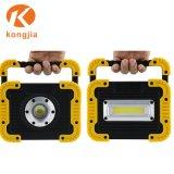 5W Lámpara LED de alta potencia de la COB 4*AA a pilas de la luz de trabajo
