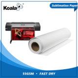 El Koala fábrica Fabricación 55g/70g/80g/90g/100g de transferencia por sublimación de secado rápido el rollo de papel