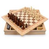 Venda por grosso de dobragem de madeira Adolescente de jogos de tabuleiro de xadrez internacional de adultos