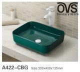 Fabrik-direktes Blau über Gegenschrank-Bassin-Badezimmer-Eitelkeit