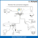 Summen-Hochgeschwindigkeitsabdeckung PTZ der Scharfeinstellungs-4MP 4X IP-Kamera