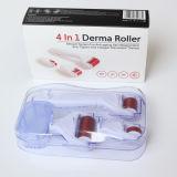 1 Dermarollerに付き4傷のDermaのローラーを除去する