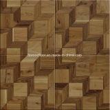 Suelo de madera dirigido roble del entarimado del mosaico