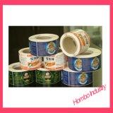 En el molde etiqueta para productos de cuidado de piel