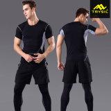 Ginnastica maschio Legging della camicia dell'uomo della tuta sportiva degli uomini degli abiti sportivi