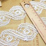 Merletto di nylon della nuova della fabbrica delle azione del commercio all'ingrosso 6cm di larghezza micro della fibra guarnizione del ricamo per gli indumenti & le tessile & l'accessorio domestici delle tende (BS1043)