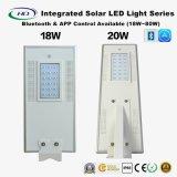 Bluetooth及びAPP 18-80W LEDのセンサーが付いているオールインワン太陽街灯