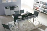 現代ガラスダイニングテーブルおよび食事の椅子(CT-149)