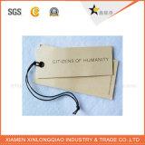 Étiquette blanc de coup personnalisée par vente en gros de papier d'emballage