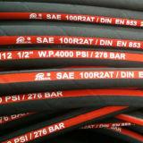 En 853 boyau hydraulique en caoutchouc à haute pression de 2sn de 2 tresses DIN de fil/SAE 100r2