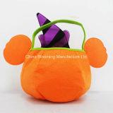 Bolso de los regalos de Halloween Bolso del fieltro de la promoción de los niños de la invitación de la calabaza