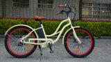 36V 250W F/R Scheibenbremse-Frauen-Strand-Kreuzer, preiswertes elektrisches Fahrrad hergestellt in China