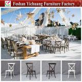 結婚式およびイベント党(YC-A50-05)のためのXの背部金属のChiavari卸し売りレンタルスタック可能Tiffanyフェニックスの椅子