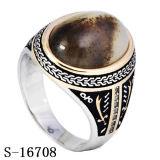 Anello d'argento dell'uomo dei monili 925 con la pietra
