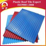빨간색 경량 PVC 플라스틱 기와