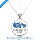 Fördernder Metallfertigkeit-Decklack-laufendes Marathon-Medaillen-Metallsieger-Gold