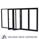 Doppelverglasung-Außeninnenraum-Bi-Faltende Schiebetür