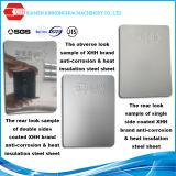 O calor do exportador de China isolou o metal que telha preços de recolocação compostos da bobina PPGI PPGL da folha do material de folha do Aço-Alumínio