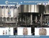 Завод минеральной вода бутылки любимчика выпивая заполняя