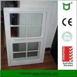 Fábrica de Shanghai Vertical de estilo americano solo la ventana de colgado, Doble Vidrio templado solo colgaba de la ventana