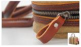 Sacchetto di mano lavato unisex del progettista del tessuto della tela di canapa (RS-8571D)