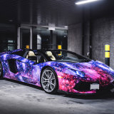 Горячая продажа 1,52*30m пузырек воздуха свободной Star Galaxy и молнии Car наматывается самоклеящаяся виниловая пленка ПВХ Car Wrap наклейку на кузове