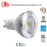 DEL GU10 chauffent l'ampoule de lampe blanche d'endroit à C.A. 85-265V 3000k 5000k pour le bureau
