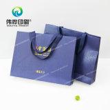 Sacchetto di carta del regalo di stampa di promozione con la timbratura calda di marchio