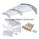 Puerta de bricolaje al aire libre plástico toldo frontal cubierta de la lluvia (YY800-C)
