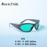 Vidros de segurança do elevado desempenho da proteção de Eyewear da proteção do laser/óculos de proteção inteiros para o laser do diodo 650nm/808nm