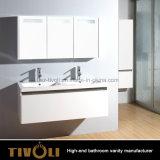 Нестандартная конструкция Tivo-0007vh черных шкафов тщеты ванной комнаты