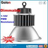 5 da garantia 1-10V PWM anos de resistência do sinal que escurece o dispositivo elétrico claro do louro elevado do diodo emissor de luz 150W