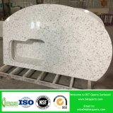 Encimera artificial veteada mármol de la cocina de la piedra del cuarzo