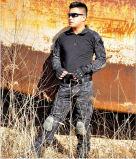 Roupas de sapo de manga comprida Túnis militares Trajes de combate tático do exército