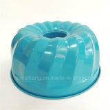 Revestimiento de cerámica molde de la torta de la calabaza del acero de carbón con el color azul