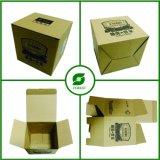 Caixa ondulada superior da dobra do papel de embalagem de Brown Com o costume impresso