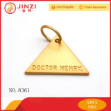 Triangle Label Logo Tag mit Gravur Name
