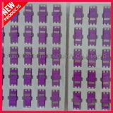двухшпиндельный тип пластичный переходника SC 10G мультимодный OM4 фиолета оптического волокна