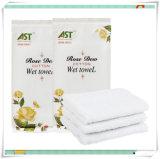 22cm * 22cm Custom Perfumes Algodão desinfetado toalha molhada descartável