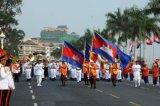 カスタムSunproofの国旗のカンボジアの国旗防水すれば